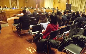 At a March 2014 hearing on senior poverty, some of NSCLC's highest policy priorities were front and center.